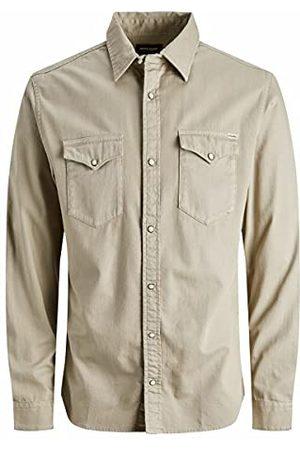 JACK & JONES Heren Jjesheridan shirt L/S Noos overhemd, Crockery, XL