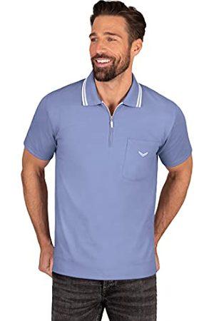 Trigema Poloshirt voor heren, lavendel-melange, XL