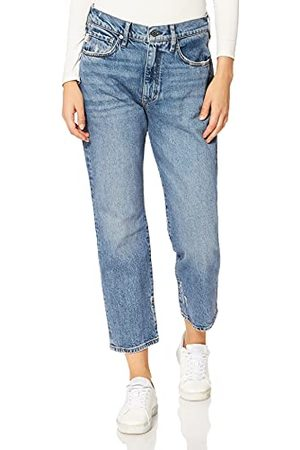 Superdry Womens HIGH RISE STRAIGHT Jeans, Ludlow Blue Stone, 32W/30L
