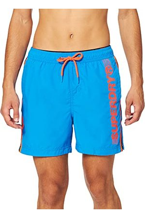 Superdry Mens State Volley Swim Board Shorts, Weekend Blue, XL