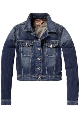 Tommy Hilfiger Dames lang - normale jas, Blau (074 Quincy Stretch), 34