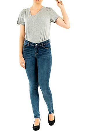 Morgan Jeans slim standaard maat met zakken pompon broek dames - blauw - W24