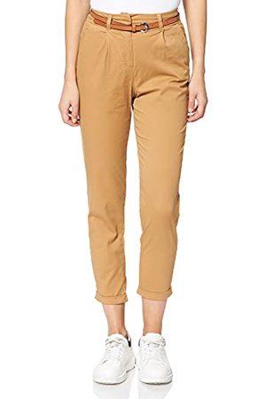 Vero Moda Dames VMMASIE HR PRES CHINO PANT broek, Tobacco Brown, S/32