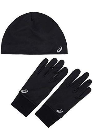 Asics 3013A035 Set met muts en handschoenen voor hardlopen, uniseks, volwassenen, Performance Black, M