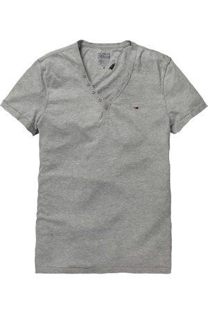 Tommy Jeans Heren 1/2-mouw, (038 Light Grey HTR), 46