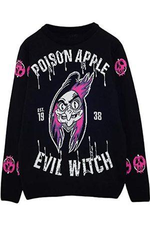 Popgear Disney Villains boze heks Heren gebreide trui XXL | Jumper Ugly Sweater Fair Kerstmis Isle Xmas Gift Ideas Mens Clothing
