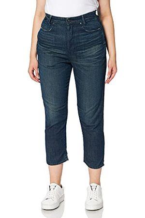 G-Star C-STAQ 3D Cropped Boyfriend jeans voor dames, Worn in Atoll Blue B253-c471, 31W x 34L