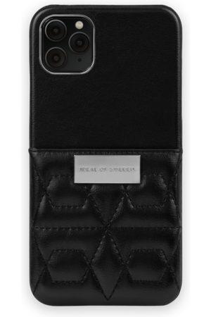 IDEAL OF SWEDEN Telefoon - Statement Case iPhone 11 Pro Max Quilted Black - Mini Pocket
