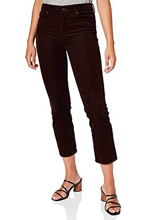 7 For All Mankind Dames The Straight Crop Corduroy Koffiebroek