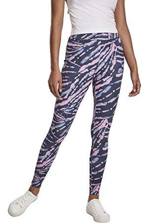 Urban Classics Dameslegging, hoge taille, Tie Dye klassieke broek