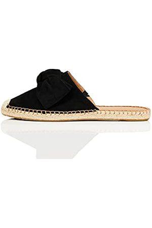 FIND Amazon-merk - vinden. Boog Mule lederen Espadrille, vrouwen gesloten teen sandalen, ,5 UK