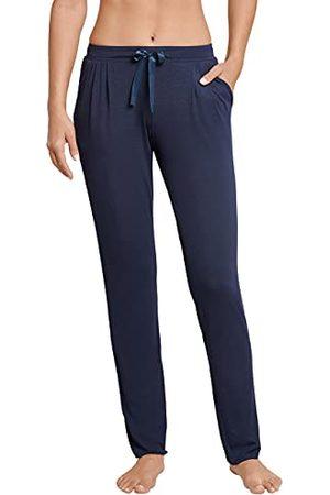 Schiesser Mix & Relax jerseybroek voor dames, lange pyjamabroek, (nachtblauw 804), 38