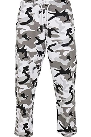 Urban classics Heren Basic Camo Sweatpants 2.3 Casual Broek, Sneeuw Camouflage, M