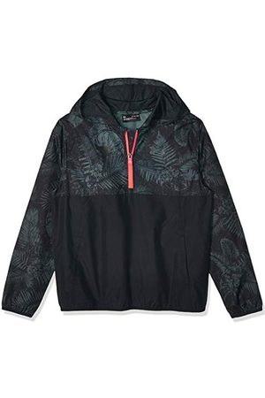 Under Armour Boys 1/2 Zip Hooded Jacket 100% Polyester Project Rock Sackpack Jacket 1352689 Black (X-Small)