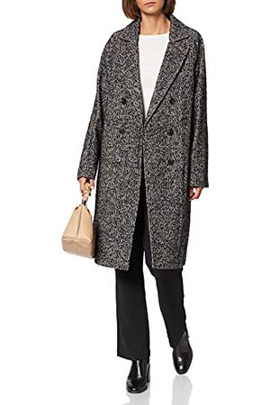 Scotch&Soda Dames Double-breasted Classic gerecyclede poly-wol Blend Coat wollen jas