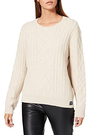 Superdry Dames Premium Cable Crew Sweater Sweater