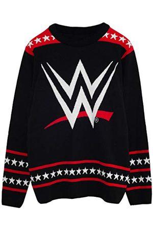 Popgear WWE Logo Heren gebreide trui M | Wrestlemania Kerstmis Jumper Ugly Idee Sweater Xmas Gift For Men
