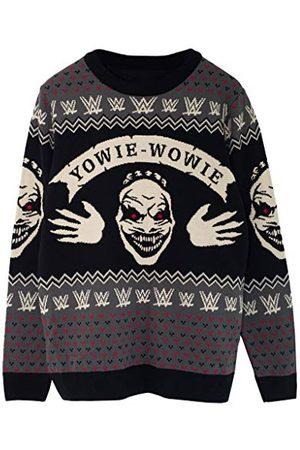 Popgear WWE De Fiend Bray Wyatt Yowie Wowie Heren gebreide trui M | Wrestlemania Halloween Kerst Jumper Ugly Idee Sweater Xmas Gift For Men