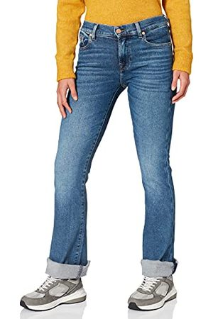 7 for all Mankind Bootcut Luxe Vintage Rejoice Jeans met Raw Cut Jeans voor dames
