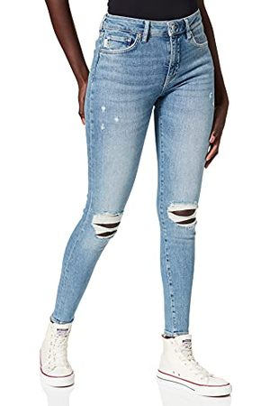 Superdry Madison High Risse Skinny Jeans, voor dames, halfblauw, 28 W/32 l