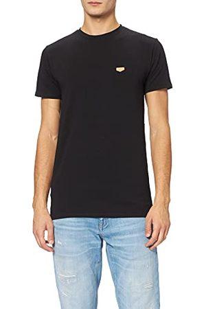 Gianni Kavanagh Black Gk Core Medal Tee T-shirt voor heren, Blanco Y Gris, XL