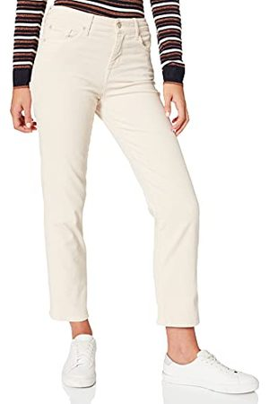 7 For All Mankind Dames The Straight Crop Corduroy Winter White Broek