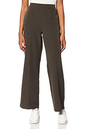 BESTSELLER Dames PCBOSSY HW Wide Pants NOOS broek, Black Olive/Detail:CP, L
