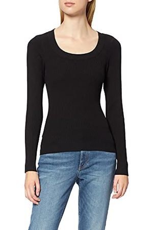 Urban classics Dames Wide Neckline Sweater Sweatshirt, , S
