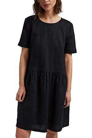 Esprit Van linnen: jurk met knoopdetails, , 32