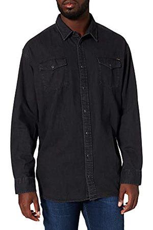 JACK & JONES Heren Jjesheridan shirt L/S Ps Noos Shirt, denim, 3XL