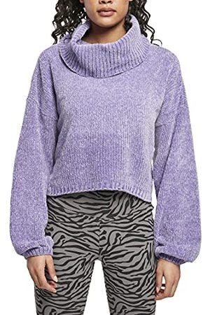 Urban classics Dames Dames Dames Short Chenille Turtleneck Sweater Sweatshirt, lavendel, 3XL