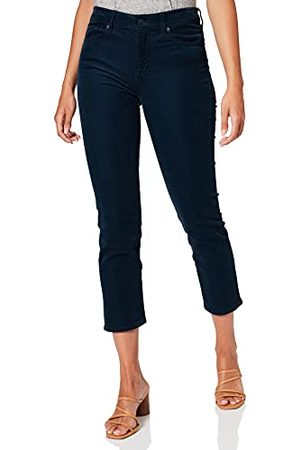 7 For All Mankind Dames The Straight Crop Corduroy Peacock broek