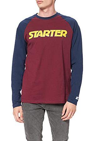 STARTER BLACK LABEL Heren Starter Raglan Longsleeve T-shirt, Poort/donkerblauw, L