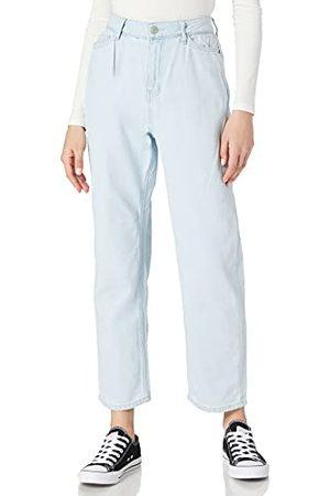 Noisy May NMBROOKE NW Slim STR DAD AZ133CLBG Jeans voor dames, Light Blue DenimAOP: Ice Blue, 27/30