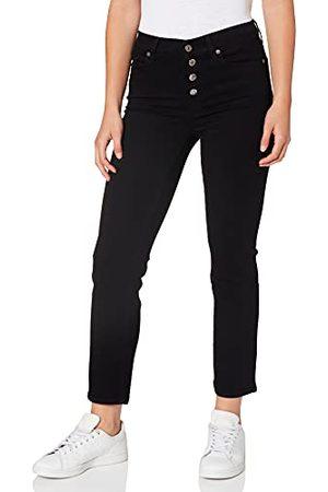 7 for all Mankind Dames The Straight Crop Bair gekruist met blootgestelde buttons jeans