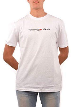 Tommy Hilfiger TJM Straight Small Logo Tee Sport T-shirt voor heren, (White Ya2), XL