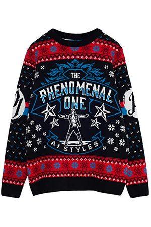 Popgear WWE AJ Styles Phenomenal Heren gebreide trui Veelkleurig 3XL | Wrestlemania Kerstmis Jumper Ugly Idee Sweater Xmas Gift For Men