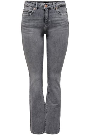 ONLY Dames Bootcut - Onlhush Flared Mid-rise Jeans Dames Grijs