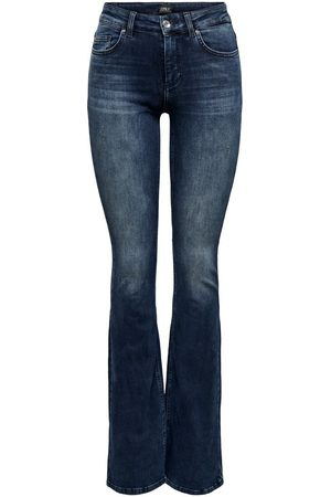 ONLY Dames Bootcut - Onlblush Life Mid Tall Flared Jeans Dames Blauw