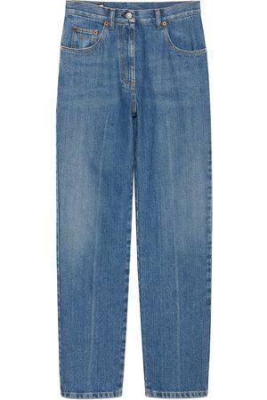 Gucci Dames Jeans - 80s fit denim pant with Horsebit