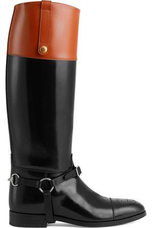 Gucci Heren Enkellaarzen - Knee-high boot with harness