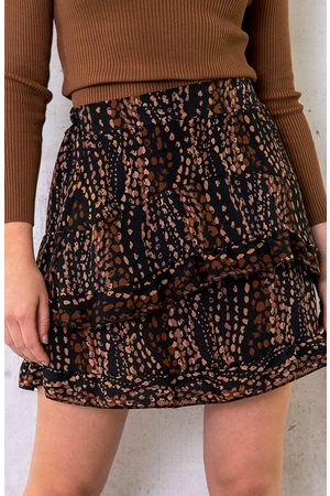 The Musthaves Laagjes Rok Dots Print Choco