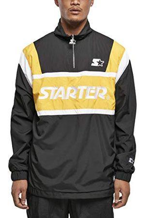 STARTER BLACK LABEL Heren Windbreaker Half-Zip Color Block Retro Overtrekjas, hoogwaardige logo-stick en patch, ritssluiting aan de zijkant, 2 kleuren, maat S tot XXL