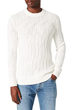 BESTSELLER Heren Onswillet Life Cable Crew Neck Knit Pullover, cloud dancer, XXL