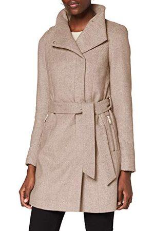 VERO MODA Vrouwelijke jas wol, silver mink, L