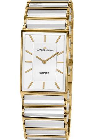 Jacques Lemans Dames analoog kwarts horloge met keramische armband 1-1651F