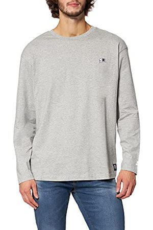 STARTER BLACK LABEL Heren Starter Essential T-shirt met lange mouwen, HEATHERGREY, XL