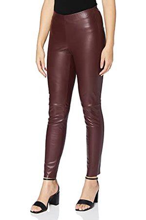 Mac Dameslegging, leren jeans, (Port Royal 480), 28W x 30L