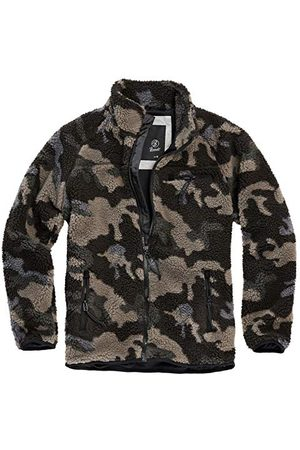 Brandit Teddyfleece jas, camouflage (dark camo), M