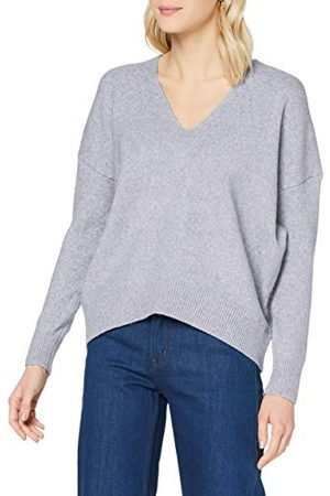 Superdry Dames Isabella Slouch Vee Pullover Sweater, Light Grey Marl, XS